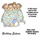 Girlfriends Cling Rubber Stamps - Quilt Set