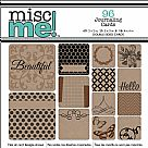Misc Me Pocket Squares Journaling Cards - Kraft