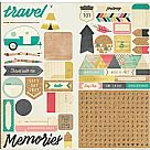 Journey Cardstock Stickers - Accents & Phrases