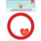 "Sticky Thumb Super Sticky Red Tape - 0.5""X5yd"