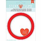 "Sticky Thumb Super Sticky Red Tape - 0.25""X5yd"