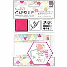 Geometric Neon Mini Cards & Stamps Set