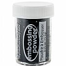 אבקת הבלטה - Embossing Powder - Black Opaque