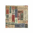 בד כותנה - Eclectic Elements Tim Holtz - Transportation Tickets