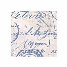 בד כותנה - Eclectic Elements Tim Holtz - Correspondence Blue