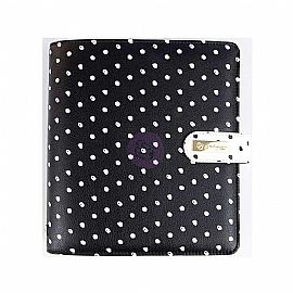 A5 Planner - In The Moment - Black W/White Dots