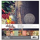 "Double-Sided Paper Pad 12""X12"" - Delish"