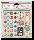 Stella and rose- decorative brads- lovely