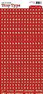 Tiny Type- TT577- מדבקות אדום