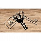 New House New Keys Wooden Stamp