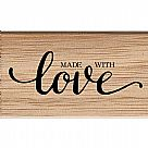 Contemporary Made With Love Wooden Stamp
