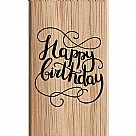 Happy Birthday Greetings Wooden Stamp