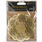 Paper Doily Gold 100pc