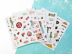 Julie Nutting Planner Embellishments - Clear Matte Stickers