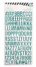 Heidi Swapp Puffy Alphabet/Teal Glitter Stickers