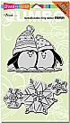 Jumbo Penguin Snow - Cling Rubber Stamp