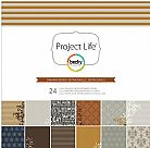 Project Life Cinnamon Collection - 12X12 Designer Paper Pack