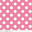 בד כותנה - C360-70 - Medium Dots Hot Pink