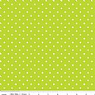בד כותנה - C670-32 - White Swiss Dot On Lime