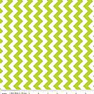 בד כותנה - C340-32 - Small Chevron Lime