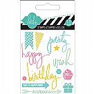 Heidi Swapp Clear Acrylic Stamps - Mini - Party