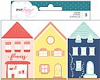 Lovely Day Collection - Wood House Stamp Set