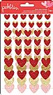 My Funny Valentine Cardstock Stickers - Glitter Hearts