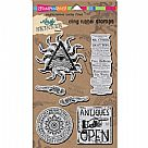 Andy Skinner Cling Rubber Stamp Set - Curiosity