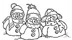 Snowman Friends - Cling Rubber Stamp