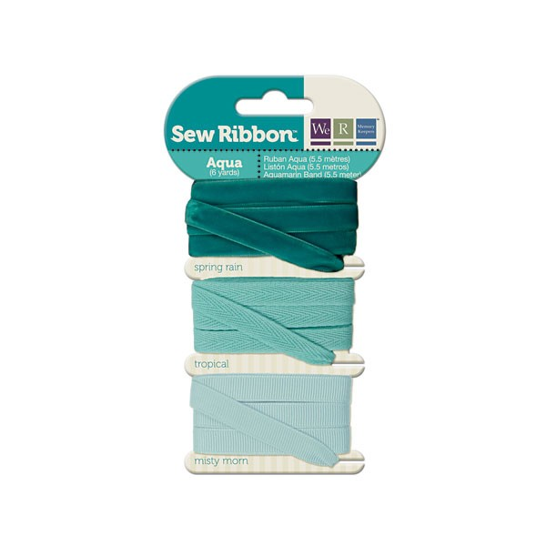 מארז סרטי בד - Sew Ribbon - Ribbon Set Aqua