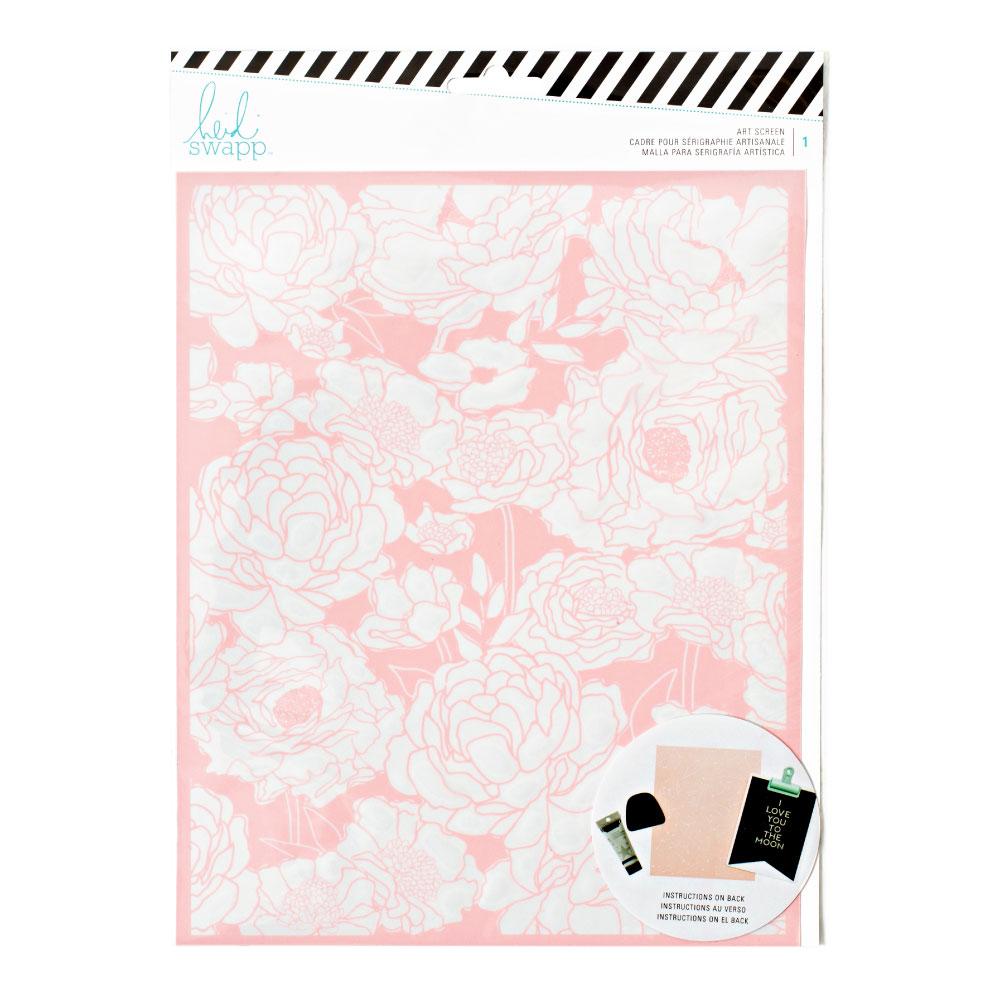 Heidi Swapp Mixed Media Floral Art Screen