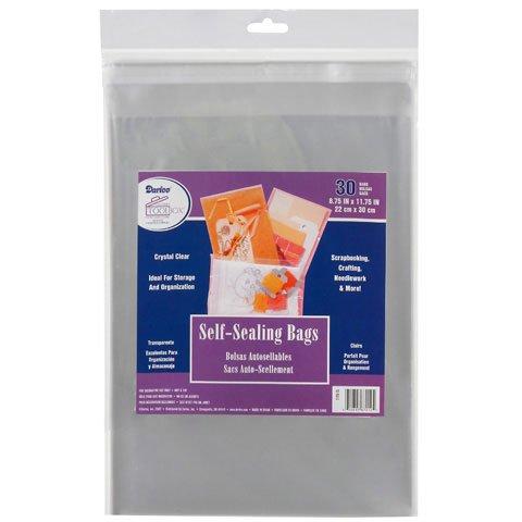 שקיות ניילון שקופות לאחסון דפים - Self - Sealing Bags