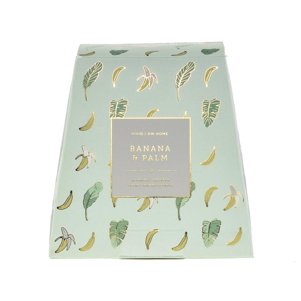 נר דגם בננות זהב - Banana & Palm