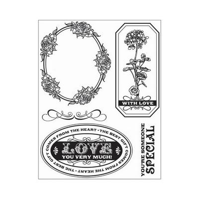 Comes From The Heart - cling Stamp Set