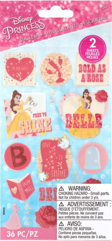 מדבקות - Disney BELLE Stickers