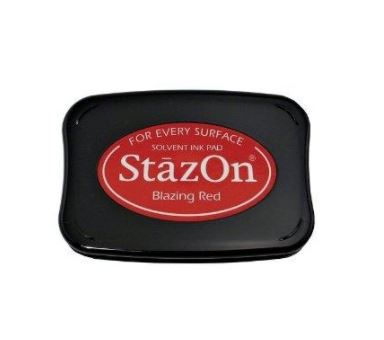 דיו יבש StazOn Solvent Ink Pad - Blazing Red