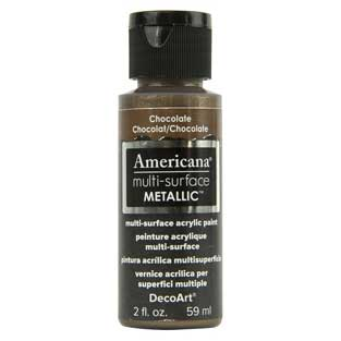 Americana Multi-Surface Metallic Paint - Chocolate