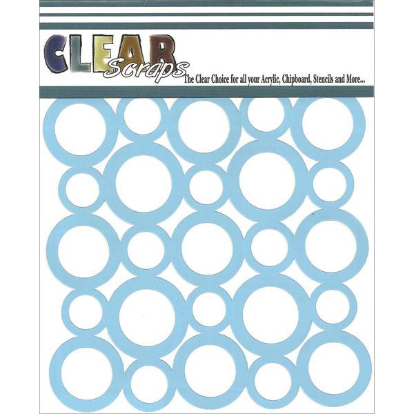 "Clear Scraps Stencils 12""X12"" - Circles"