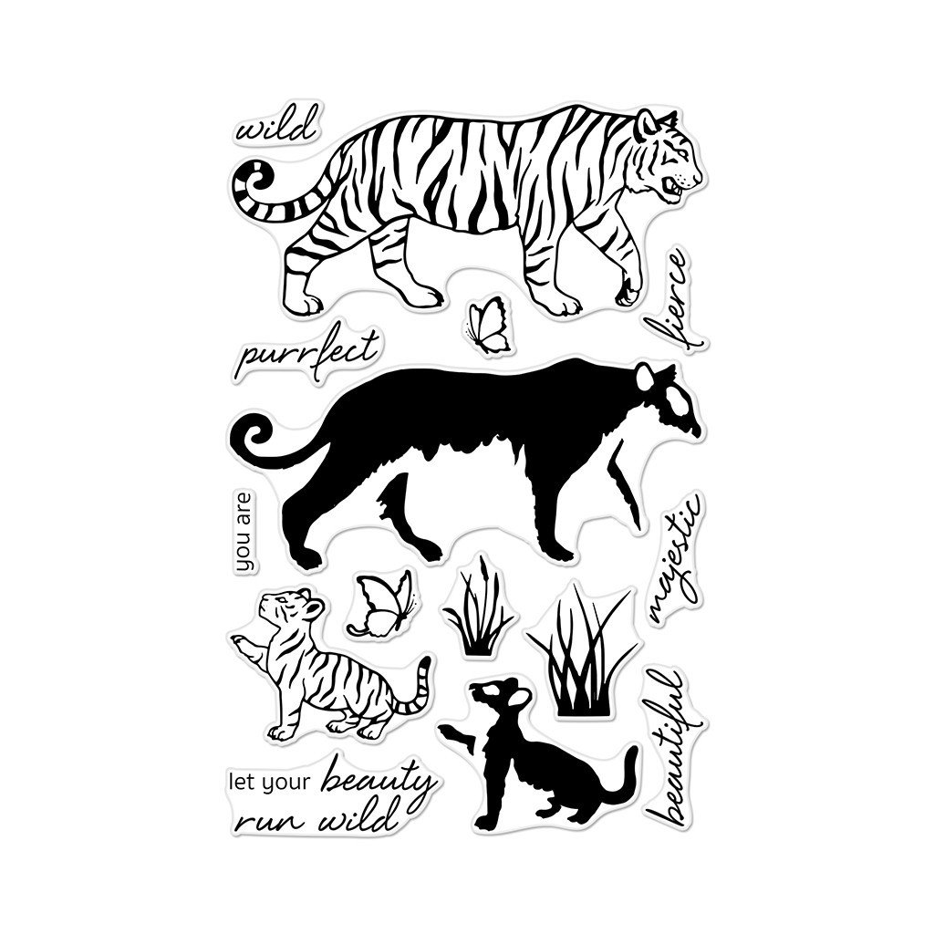 סט חותמות סיליקון- COLOR LAYERING BENGAL TIGERS
