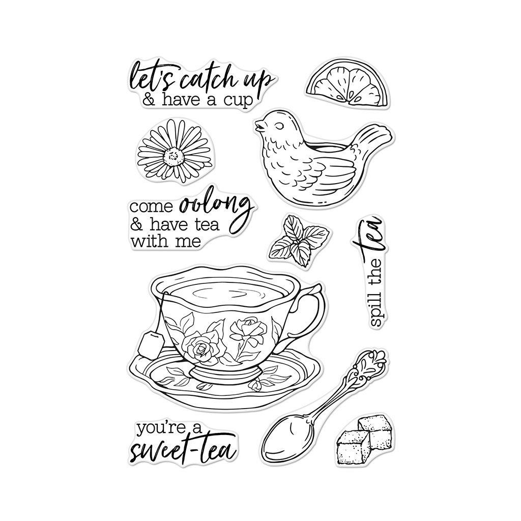 סט חותמות סיליקון- SPILL THE TEA