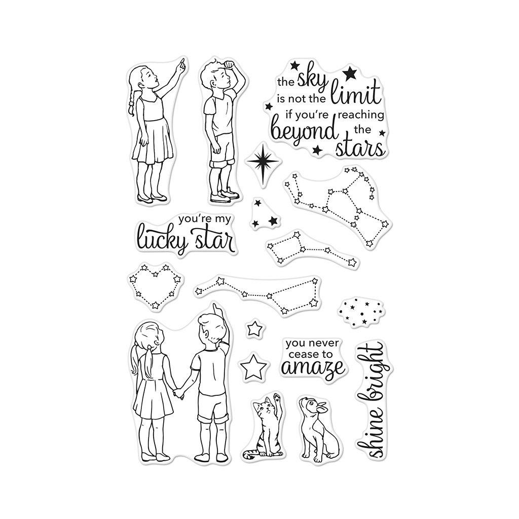 סט חותמות סיליקון- LUCKY STAR