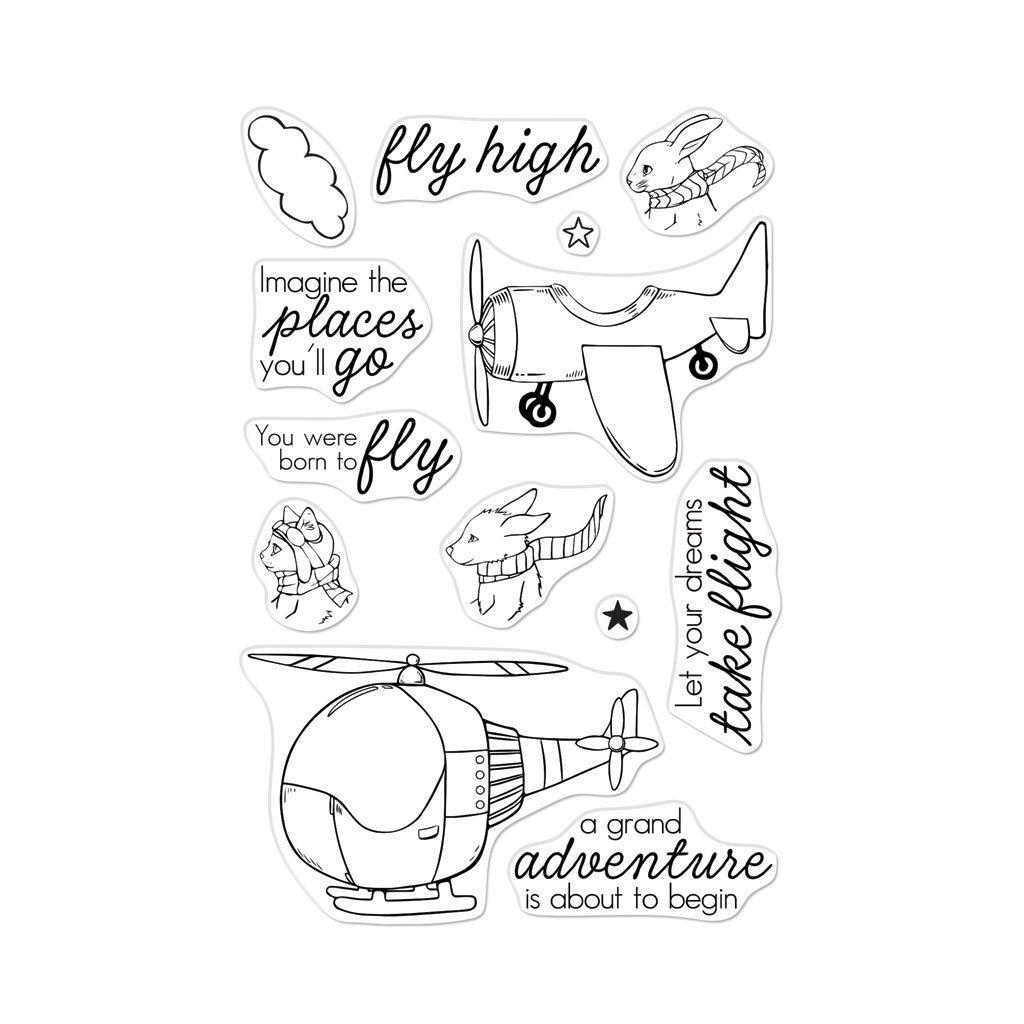 סט חותמות סיליקון- FLY HIGH ANIMALS