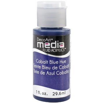 DecoArt Media Fluid Acrylic Paint - Cobalt Blue Hue