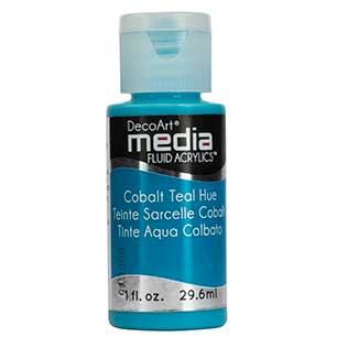 DecoArt Media Fluid Acrylic Paint - Cobalt Teal Hue