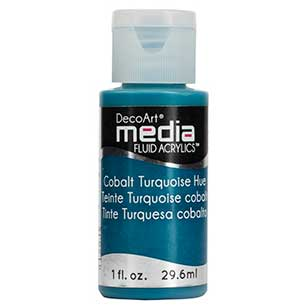 DecoArt Media Fluid Acrylic Paint - Cobalt Turquoise Hue