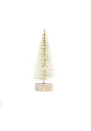 עץ אשוח מיניאטורי - קרם עם שלג - מיני