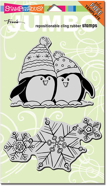 Jumbo Penguin Snow - Cling Rubber Stamp