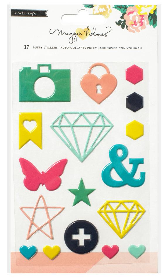 מדבקות אפוקסיות - Maggie Holmes - Shine Puffy Stickers