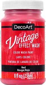 Vintage Effect Wash - Red