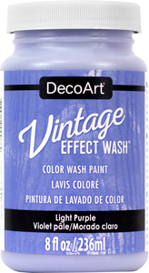 Vintage Effect Wash - Light Purple